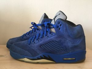Nike Air Jordan Retro 5 Blue Suede Mens Size 10 for Sale in Rockville, MD
