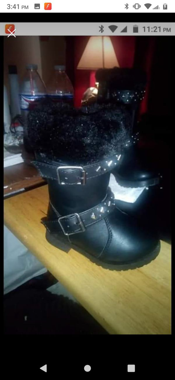Little Girl Black Boots Sz 5