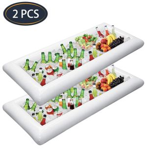 2 PCS Inflatable Serving Bars Ice Buffet Salad Serving Trays Food Drink Holder Cooler Containers Indoor Outdoor BBQ Picnic Pool Party Supplies Luau C for Sale in Queens, NY