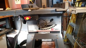 "Craftsman 8"" direct drive table saw with Stand and, Fence miter guide in kickback guard for Sale in Westminster, CA"