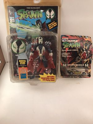 2 spawn action figure comic hot wheels collectible for Sale in Chagrin Falls, OH