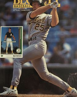 Beckett August 1992 issue # 89 Front Cover Mark McGwire, Back Cover Jack McDowell. for Sale in Boston,  MA