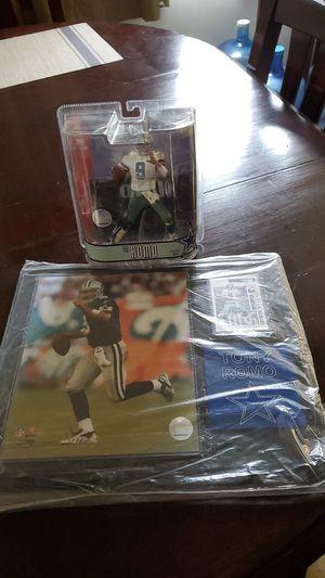 NFL Tony Romo Action Figure and memorabilia frame for Sale in Bellflower, CA