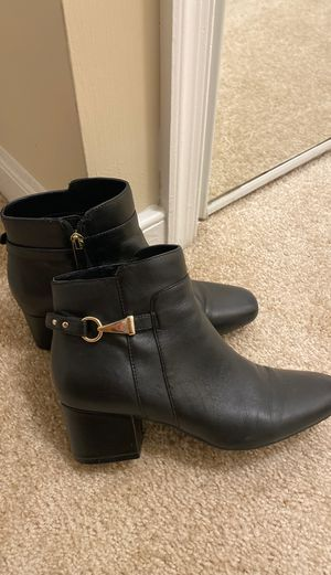 Leather black boots size 7.5 for Sale in Alexandria, VA
