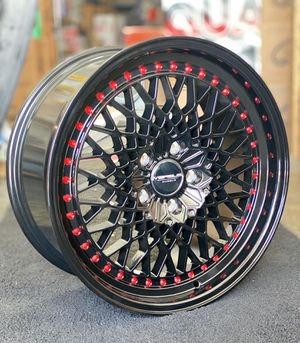 18x8.5 Rims Black/Red Rivets For Honda for Sale in South Gate, CA