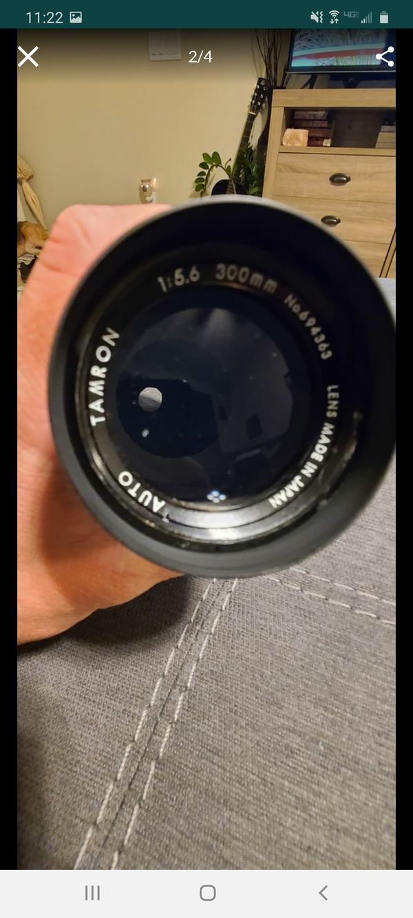 Tamron 1:5.6 f=300mm No. 694363 62mm Camera Lens used vintage