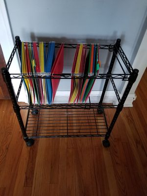 File Cart with Folders for Sale in Chicago, IL