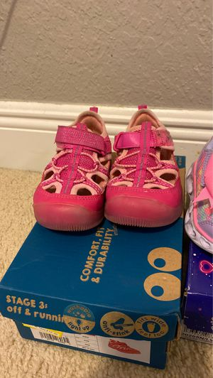 Light up shoes sketchers and stride rite toddler shoe size 6 for Sale in Opa-locka, FL