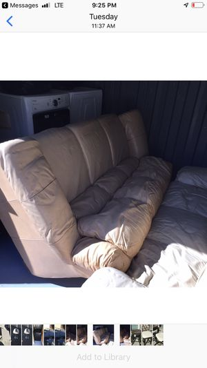 Two leather couches for Sale in Stone Mountain, GA