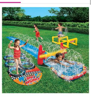 Kids water slide inflatable obstacle course for Sale in Costa Mesa, CA