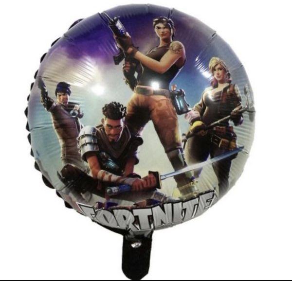 Fortnite 18 inch Round Mylar Balloon with helium