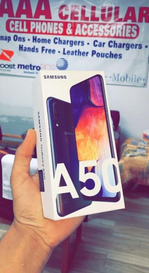 Unlocked Samsung Galaxy A50, 64gb, Brand New in Box, One Year Warranty!
