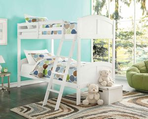 Twin/Twin Bunk Bed - 37009 - White V EM for Sale in Pomona, CA