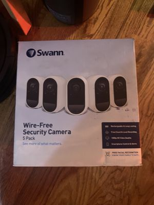 New Swann Wireless Security System – 5 Battery Camera for Sale in Raleigh, NC