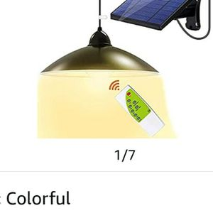 Solar Lights Outdoor Super-Bright LEDs Security - Upgrade 3 Color Solar Powered Lights,IP65 Waterproof Remote Control Shed Lights Pendant Light with A for Sale in Las Vegas, NV