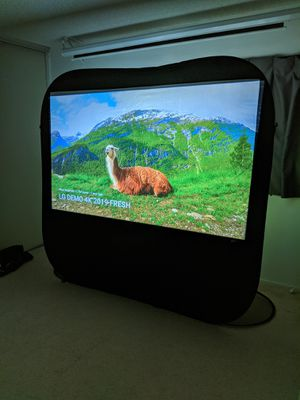 Pop-up Cinema Portable Outdoor Fast Folding Projector Screen Self Standing 84-inch 16: 9 for Sale in Palos Verdes Estates, CA