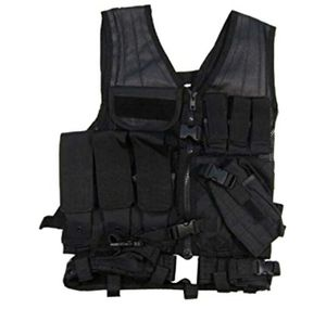 Tactical Airsoft Vest - Black for Sale in Colorado Springs, CO