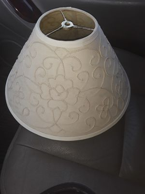 New beige embroidered medium size lamp shade for Sale in Addison, IL