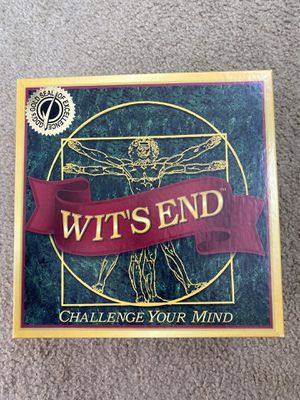 Wit's End (Board Game) for Sale in Etiwanda, CA