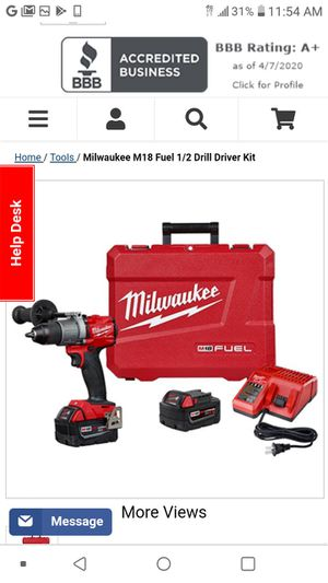 M18 Milwaukee fuel drill set for Sale in Benicia, CA