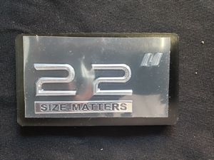 "Rim*** wheel 22"" Size Matters emblem for Sale in Fountain Valley, CA"