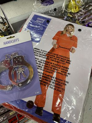 Brand new prisoner adult one size with handcuff. I also have shackles. for Sale in Fremont, CA