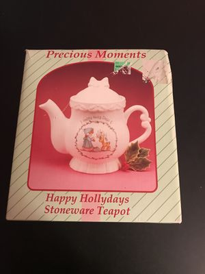 Precious moments Christmas tea pot for Sale in West Springfield, VA