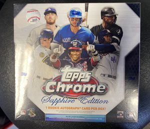 **Back Up** Topps Chrome Sapphire Edition Box 2020 Baseball Cards for Sale in Hayward, CA