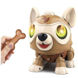 Robot Dog, DIY Electronics Pet Dog with Bone, Interactive Smart Puppy Responds to Bark Run Eat Sleep Snore Yawn with Light Music, Touch Control, Voic for Sale in Queens, NY