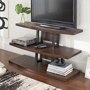 "NEW 48"" TV Stand/shelf, Rustic Espresso for Sale in Las Vegas, NV"