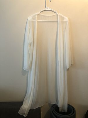 Brand New Shimmering White See Through Cardigan for Sale in Seattle, WA