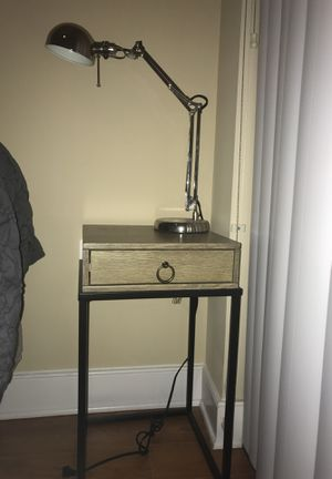 Nightstand with desk lamp for Sale in Washington, DC