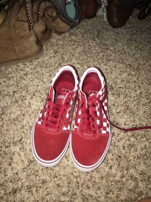 Size 3 in kids , Red vans for Sale in Clarksville, TN