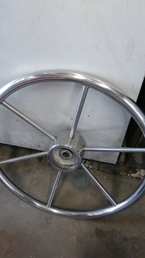 "16"" Boat Steering Wheel Stainless Steel for Sale in Garden Grove, CA"