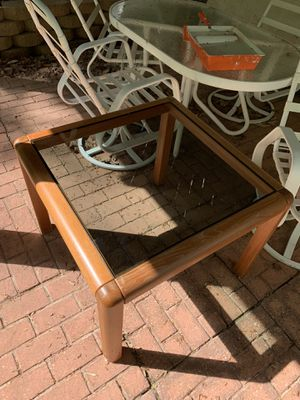 Contemporary oak and glass coffee or side table for Sale in Manassas Park, VA