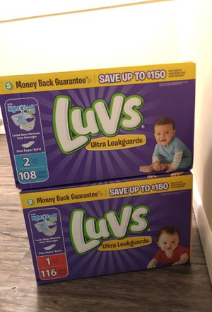 Luvs pampers #1 and #2 for Sale in Sterling Heights, MI