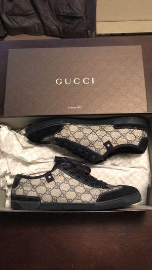 Gucci Navy Blue/ Beige GG plus pattern low tops for Sale in Seattle, WA