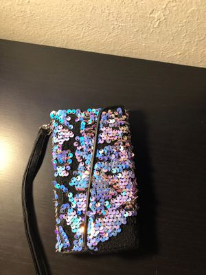 Purple and Blue Sequence Wallet Phone Case for Sale in Aurora, CO