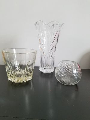 Cut Crystal Glass Vases for Sale in St. Louis, MO