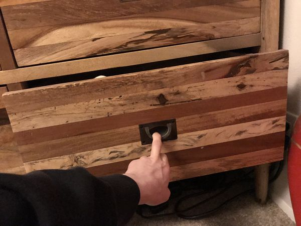 Reclaimed wood hutch cabinet dresser with drawers
