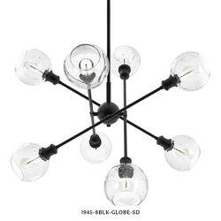 Golden Lighting Axel 8-Light Matte Black Sputnik Chandelier for Sale in Dallas,  TX