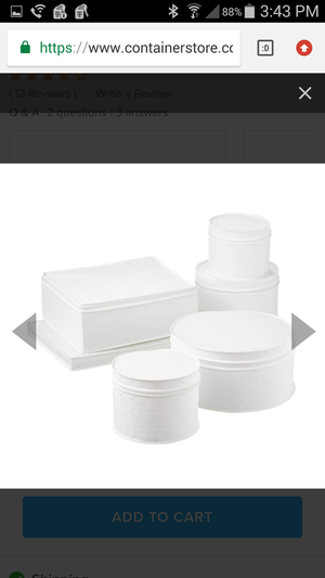 The Container Store - White Quilted Storage Set for Cups, Wine Glasses, Plates and Coffee/ Tea Pot Saver for Sale in San Diego, CA