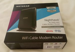 NETGEAR Nighthawk AC1900 Wifi cable modem/router. for Sale in Las Vegas, NV