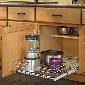 Rev-A-Shelf - 5WB1-2122-CR - 21 in. W x 22 in. D Base Cabinet Pull-Out Chrome Wire Basket for Sale in Corona, CA