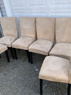 6 Dinning Room Table Suede Chairs for Sale in Seattle,  WA