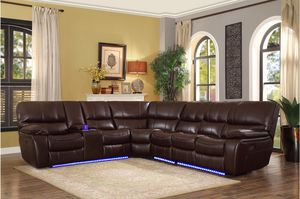 Power recliner sectional with led light and usb connecter for Sale in Elgin, IL