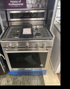 KitchenAid stainless steel 5 burner gas stove #928 for Sale in South Farmingdale, NY