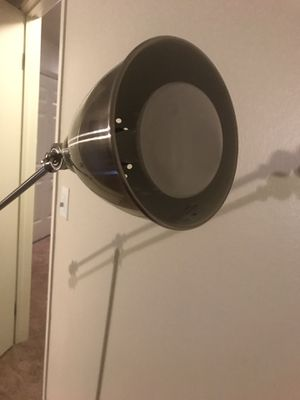 Modern Stainless still floor lamp heavy duty for Sale in Naperville, IL