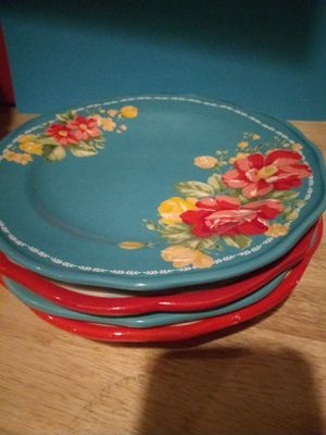 Pioneer woman salad plates for Sale in Eddystone, PA