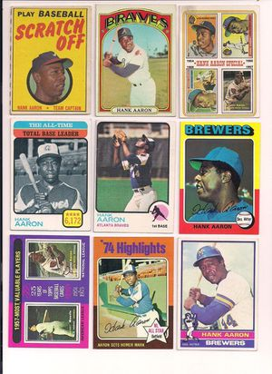 Baseball Cards - Hank Aaron for Sale in Ontario, CA